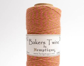 Hemptique Pinata Bakers Twine, Hemptique Cord, Hemptique Bakers Twine, Orange Bakers Twine, Pink Bakers Twine, Pinata Cord BTS0025