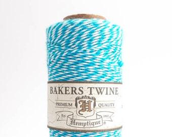 Hemptique Blue White Bakers Twine, Hemptique Cord, Hemptique Bakers Twine, Blue Bakers Twine, Blue Cord, Blue Cotton Cord BTS0012