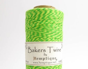 Hemptique Neon Green Yellow Bakers Twine, Hemptique Cord, Hemptique Bakers Twine, Neon Green Bakers Twine, Neon Yellow Bakers Twine BTS0023