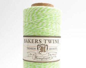 Hemptique Lime White Bakers Twine, Hemptique Cord, Hemptique Bakers Twine, Lime Bakers Twine, White Bakers Twine, Green Bakers Twine BTS0013