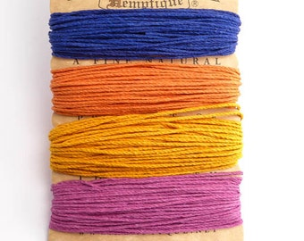 Hemptique 1mm Sedona Hemp Cord Set, Hemptique Cord, Hemp Cord, Orange Hemp, Pink Hemp, Blue Hemp, Gold Hemp, HMC0062