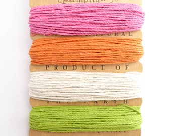 Hemptique 1mm Sizzle Hemp Cord Set, Hemptique Cord, Hemp Cord, Green Hemp, Pink Hemp, Orange Hemp, White Hemp HMC0052