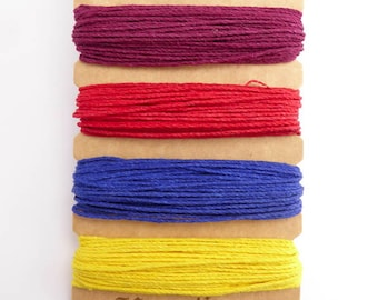 Hemptique 1mm Heat Wave Hemp Cord Set, Hemptique Cord, Hemp Cord, Red Hemp, Pink Hemp, Blue Hemp, Yellow Hemp HMC0059