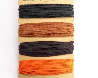Hemptique 1mm Animal Den Hemp Cord Set, Hemptique Cord, Hemp Cord, Black Hemp, Brown Hemp, Orange Hemp HMC0060