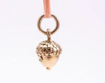 Bronze Acorn Charm, (1 pc) Gold Acorn Charm, Bronze Seed Charm, Tiny Charms, Bronze Acorn Charms, Woodland Charms, Nature Charms CHM0183