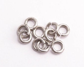 Antique Silver Jump Rings, (10 pcs) 5.4mm Nunn Design Jump Rings, Antique Silver Jump Rings, Small Jump Rings JPR0025