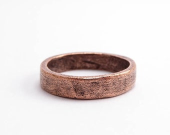 Antique Copper Hammered Ring Size 6, Hammered Ring, Antique Copper Ring, Nunn Design Charms, Antique Copper Charms, Ring Connector CHM0212