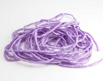 Violet Thin Silk Cord, (1 Strand) Violet Ribbon, Violet Silk Ribbon, Violet Cord, Violet Silk Cord, Purple Silk, Purple Ribbon SSR0060