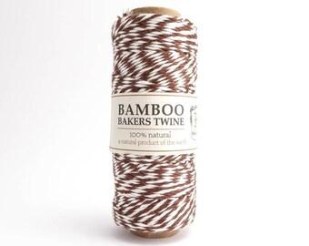 Hemptique Brown Bamboo Bakers Twine, Hemptique Cord, Brown Bamboo Cord, Brown White Bakers Twine, Brown Macrame Cord BBS0013
