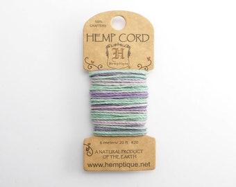 Pastel Hemp Cord 1mm Mini, 6m Hemptique Cord, Pastel Hemptique Cord, Pastel Macrame Cord, Pastel Bracelet Cord HMC0107