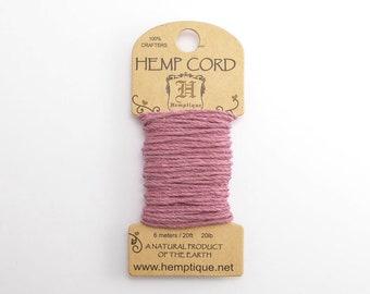 Light Pink Hemp Cord 1mm Mini, 6m Hemptique Cord, Pink Hemptique Cord, Pink Macrame Cord, Pink Bracelet Cord HMC0083