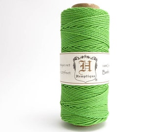 Hemptique Neon Green Bamboo Cord 1mm 62.5m, Hemptique Cord, Green Bamboo Cord, Green Hemptique Cord, Green Macrame Cord,  BBS0001