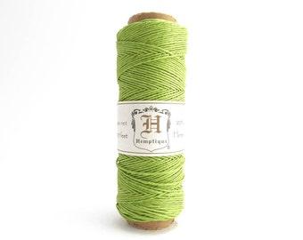 Lime Green Hemp Cord 0.5mm, 62.5m Hemptique Cord, Lime Green Hemptique Cord, Green Macrame Cord, Green Bracelet Cord HMS0096