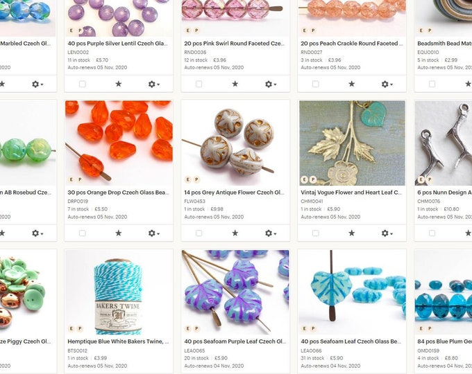 Featured listing image: Closing Down Sale - Czech Glass Beads, Charms, Hemp Cord, Jewellery Making