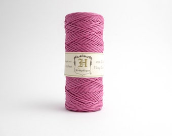 Hemptique Bright Pink Hemp Cord 1mm 62.5m, Hemptique Cord, Pink Hemp Cord, Bright Pink Hemptique Cord HMS0027