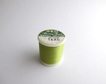 Apple Green K O Beading Thread, Green K O Beading Thread, Japanese Beading Threads, Green Beading Thread THR0004