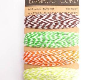 Hemptique Blooming Field Bamboo Bakers Twine Cord, Hemptique Cord, Blooming Field Bamboo Cord, Bakers Twine Set, Green Bakers Twine BBC0003