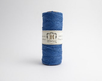 Hemptique Blue Hemp Cord 1mm 62.5m , Hemptique Cord, Blue Hemp Cord, Blue Hemptique Cord HMS0020