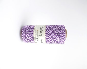 125m x Purple White Bakers Twine 1mm, Hemptique Cord, Hemptique Bakers Twine, Purple Bakers Twine BTS0001