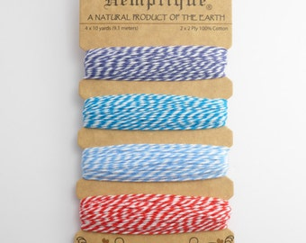 Hemptique Berrylicious Bakers Twine Card, Hemptique Cord, Hemptique Bakers Twine, Red Bakers Twine, Blue Twine BTC0002