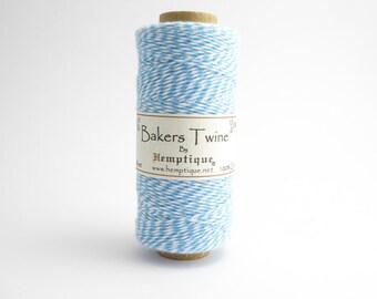 Hemptique Blue White Bakers Twine, Hemptique Cord, Hemptique Bakers Twine, Blue Bakers Twine BTS0003