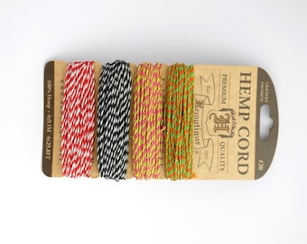 Summer Shindig 2 Hemp Cord 1mm, Hemptique Cord, Natural Hemp Cord, Varigated Hemp Cord, Pink Hemp HMC0040