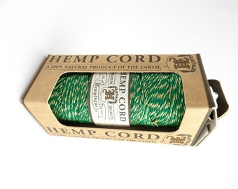 62.5m x Green and Gold Hemp Cord, Hemptique Cord, Green Hemp Cord, Metallic Hemp Cord HMS0044
