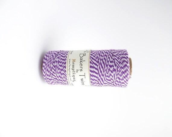 125m x purple white bakers twine 1mm hemptique cord etsy