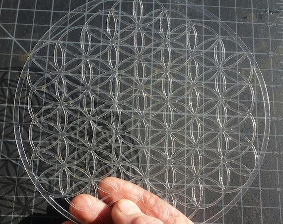 Mini Full Bloom Flower of Life Sacred Geometry Stencil
