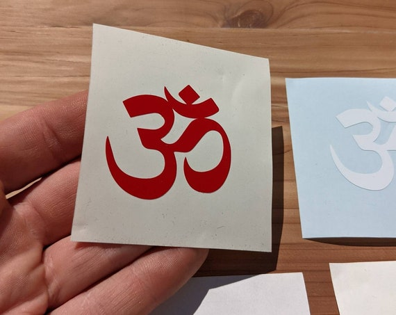 Om Symbol Sticker - ॐ Sanskrit Yoga Decal in Your Choice of Colors