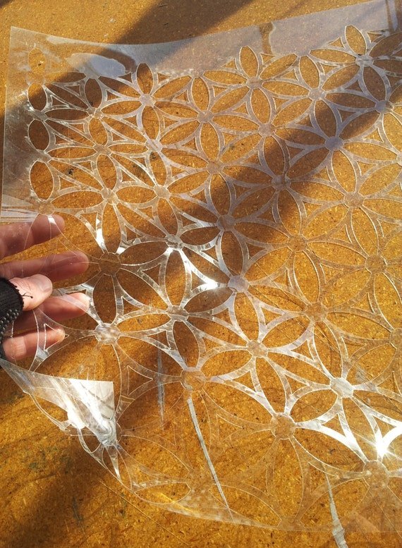 Giant Flower of Life Wall Stencil