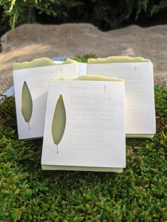 Pepperwood Leaf Soap made with California Olive Oil - California Bay Laurel - Oregon Myrtle