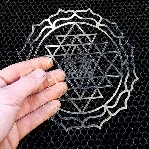 Mini Sri Yantra Reusable Stencil - Sacred Geometry