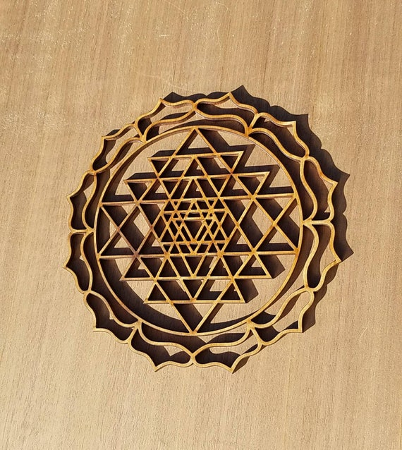 Sri Yantra Sustainable Wood Lasercut Wall Art