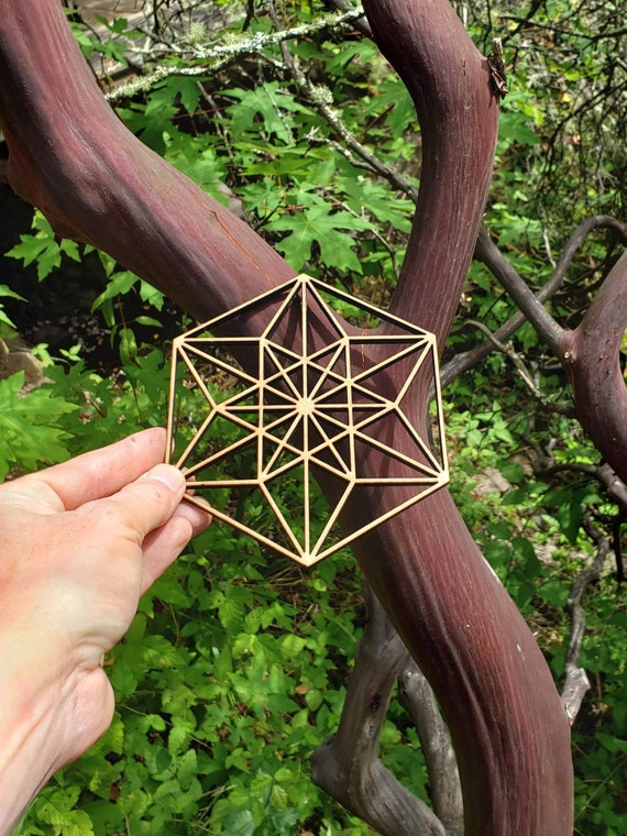 Vector Equilibrium Sacred Geometry Wall Art or Crystal Grid - Hexagonal Geometry - CubeOctahedron - Buckminster Fuller