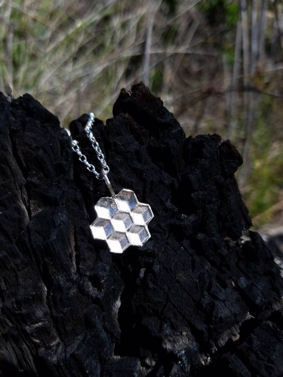 Honeycomb Of Life Charm Pendant with Chain