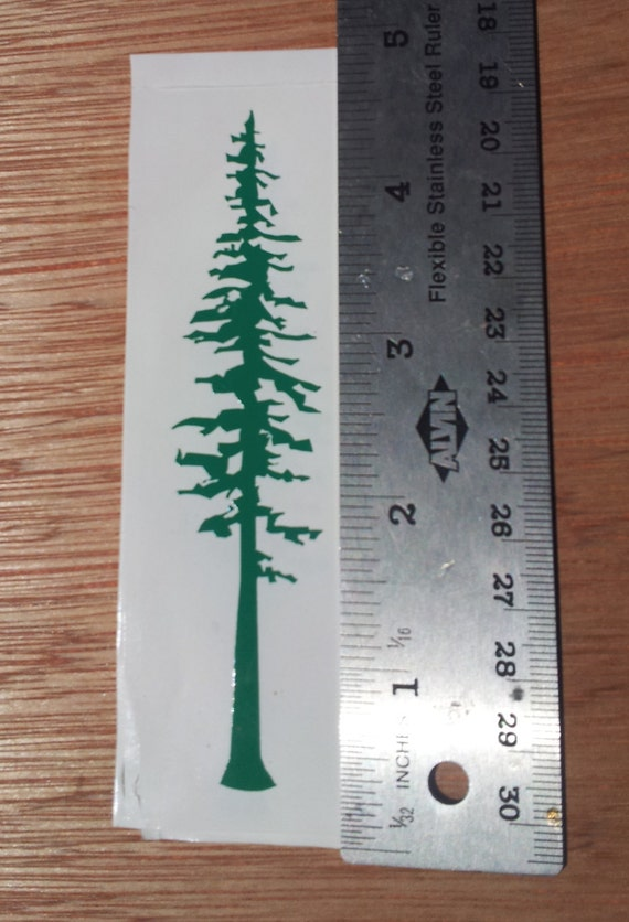 Redwood Tree Cut Vinyl Sticker/Decal