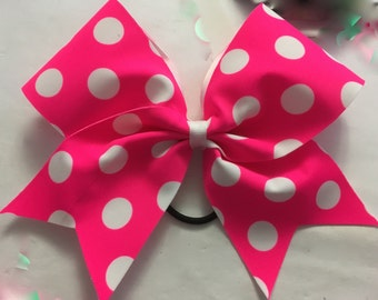 Pink polka dot bow