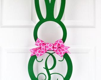 Easter Wreath EASTER BUNNY Rabbit Ears Feet Door Pink