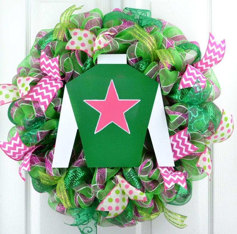 Derby Mesh Wreath Kentucky Derby Wreath Derby Door Wreath Etsy