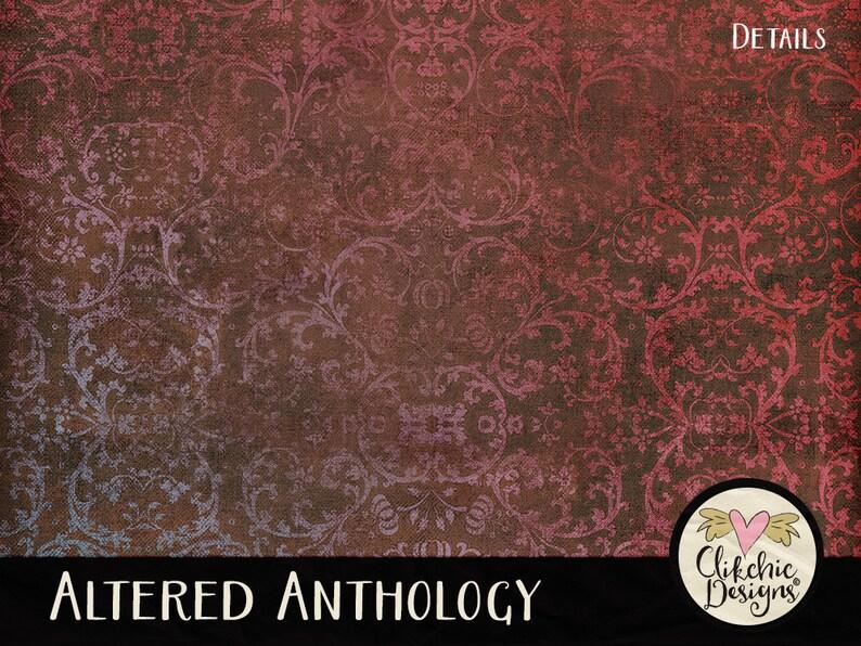 Vintage Paper Digital Paper Pack 24 Shabby Vintage Digital Scrapbook Paper Backgrounds Shabby Paper Pack Altered Anthology