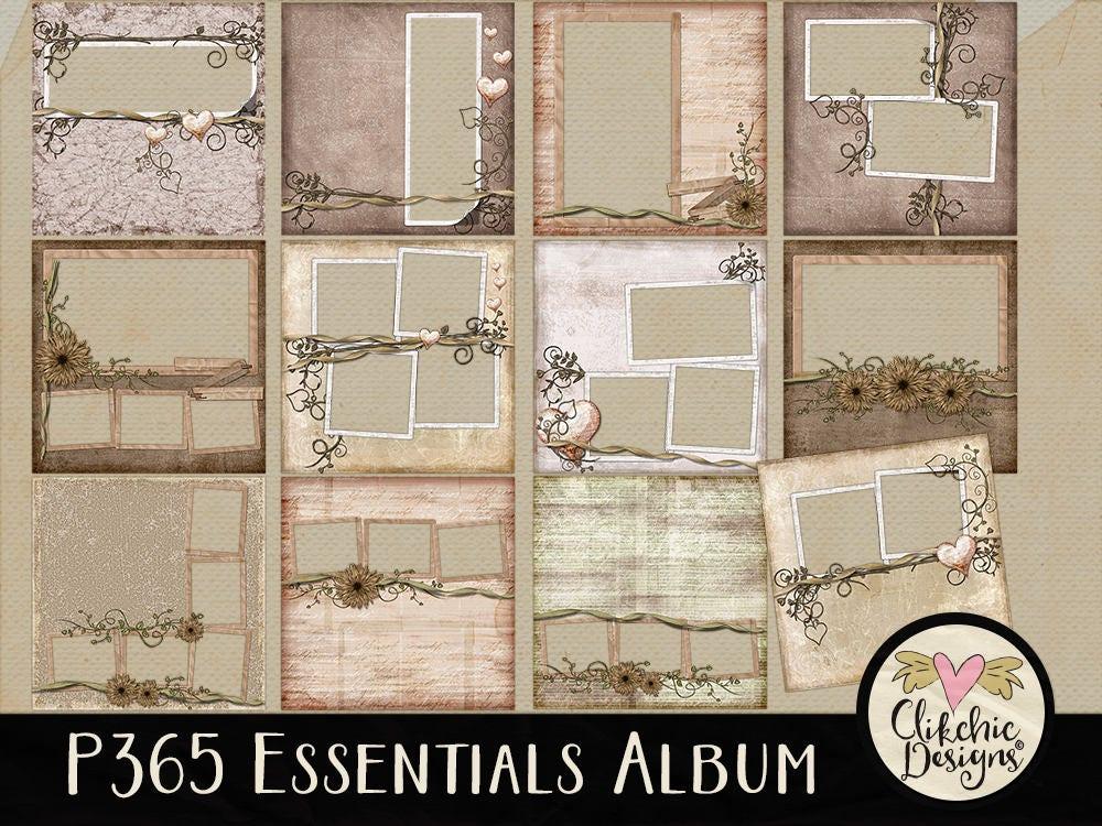 Diy Digital Scrapbook Album Shabby P365 Essentials Digital Etsy