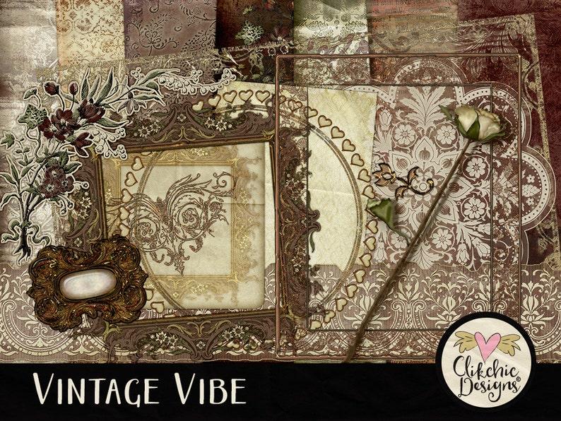 Heritage Digital Scrapbook Kit Clipart  Vintage Vibe  image 0