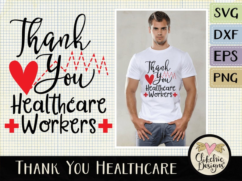 Thank You Healthcare Workers SVG Cutting File Health care image 0