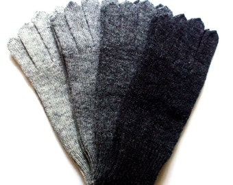 Men's knitted lambswool Gloves/winter gloves/wool mittens/gray/blue