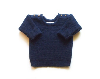 Babies/Children's knitted lambswool sweater with oak buttons/jumper/cardigan/toddlers
