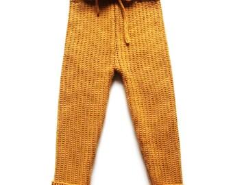 Babies/Children's/Toddlers knitted merino wool pants/trousers/longies/leggings/spring/summer