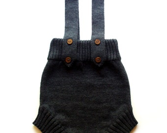 Babies/Children's knitted merino wool romper/diaper cover/shorts/short pants/trousers/nappy cover