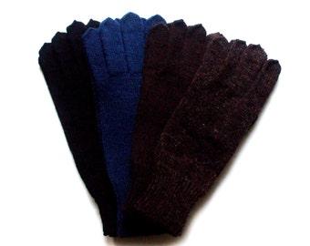 Men's knitted lambswool Gloves/mens winter gloves/winter mittens/wool gloves/blue/gray/black