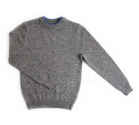 Men s lambswool round collar Jumper sweater crew  cdedee44548